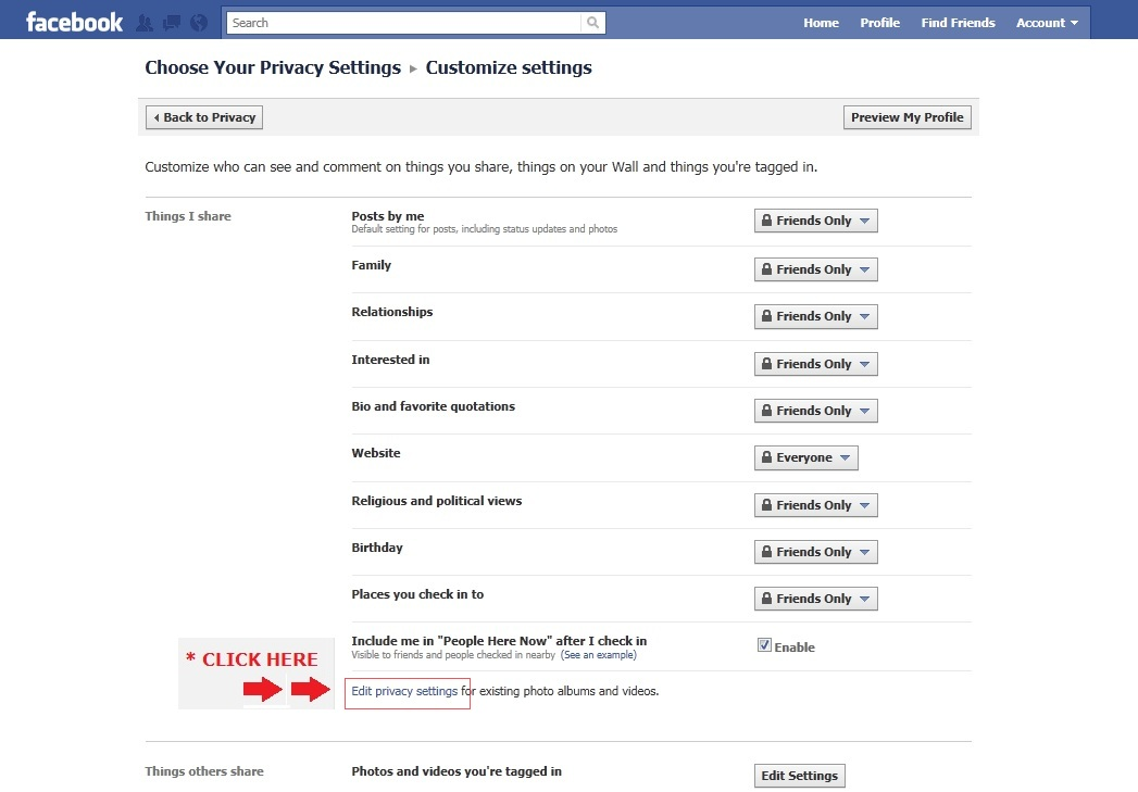 how to change facebook message settings to friends only